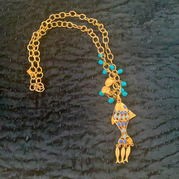 Lily Pulitzer fish necklace
